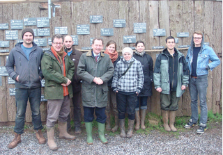Sir Graham Watson (centred) with project members