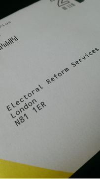 Electoral Ballot Services envelope / Electoral Reform Services / Postal Ballot Envelope / Election